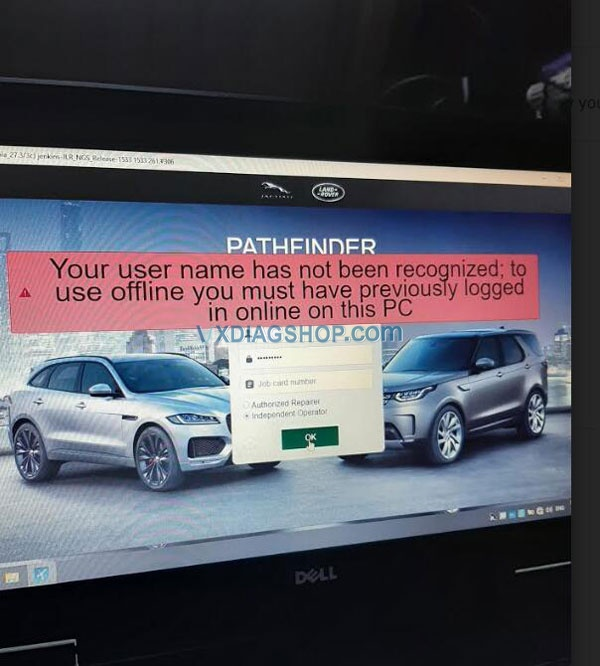 Vxdiag Vcx Pro Jlr Pathfinder Error 1