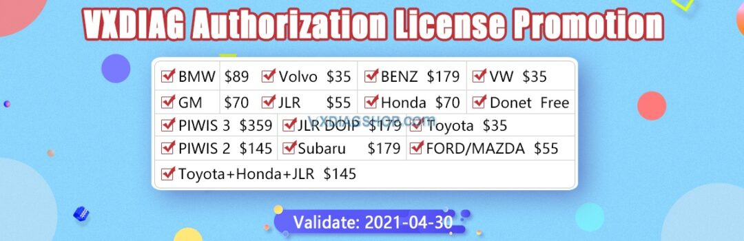 Vxdiag License Promo