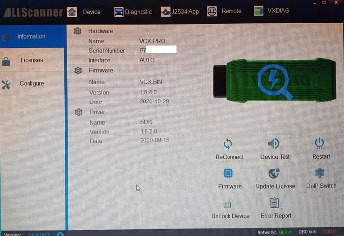 Vxdiag Vcx Pro License Invalid Expired Solution 04