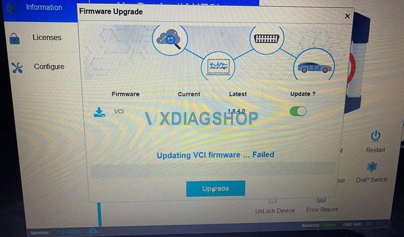 Vcx Se Firmware Update Failed 2