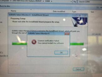 Vxdiag Subaru Ssm4 License Failed