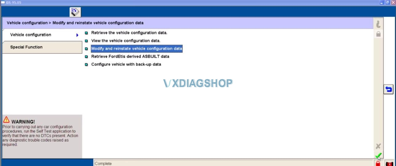 Ford IDS Parameter Program For Ford Mondeo 7