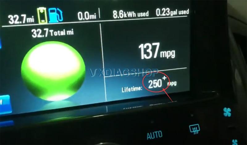 Vxdiag Vcx Nano Reset Lifetime MPG On Chevy Volt 8