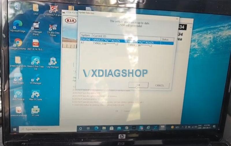 Vxdiag Vcx Nano Ford Passthru Test Kia 4