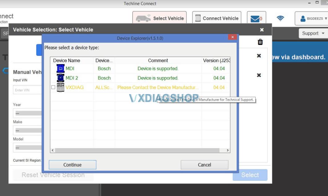 Vxdiag Vcx Nano Techline Connect Problem 1